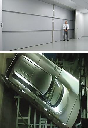 東京・渋谷ヒカリエの13 階まで劇場用の機材など を運ぶための荷物用超大 型エレベーター。