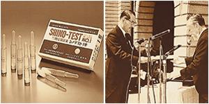 世界初の臨床検査薬キット、シノテスト1号と医療への貢献が認められ 紫綬褒章を受章する篠原博士