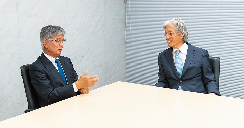 上野社長と望月社長