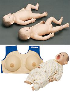 コーケンベビー、コーケン産褥乳房モデル、コーケンベビー ラッチオンマスク